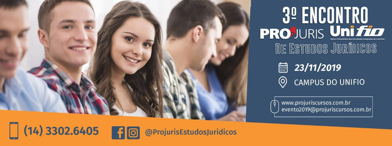 III Encontro UNIFIO/PROJURIS de Estudos Jurídicos